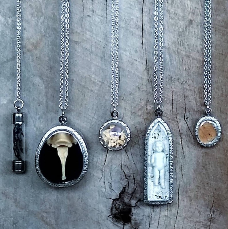 2  Reliquary  Necklace  Frozen Charlotte  Victorian  image 0