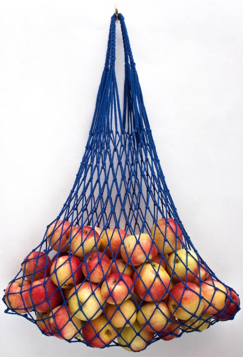 Reusable Grocery Tote Bag #x44 Blue Bag Shopper coton bag String bag