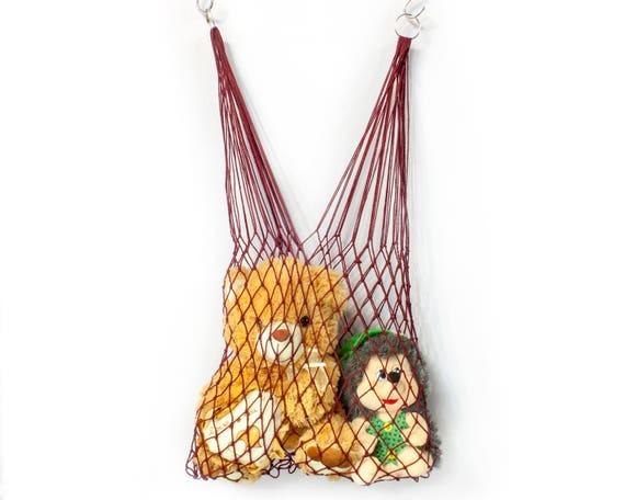 Sac avec cordon, sac de jouets, sac coton, sac de maille, naturel, sac à main, sac à linge, hamac, sac de rangement