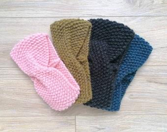Alpaca Knitted Headband For Women, Hand Knitted Wool Headband, Winter Turban Headband, Women Headband, Wool Headband