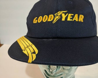 Vintage Goodyear Made in USA Snapback Hat 8a733c32c1ea