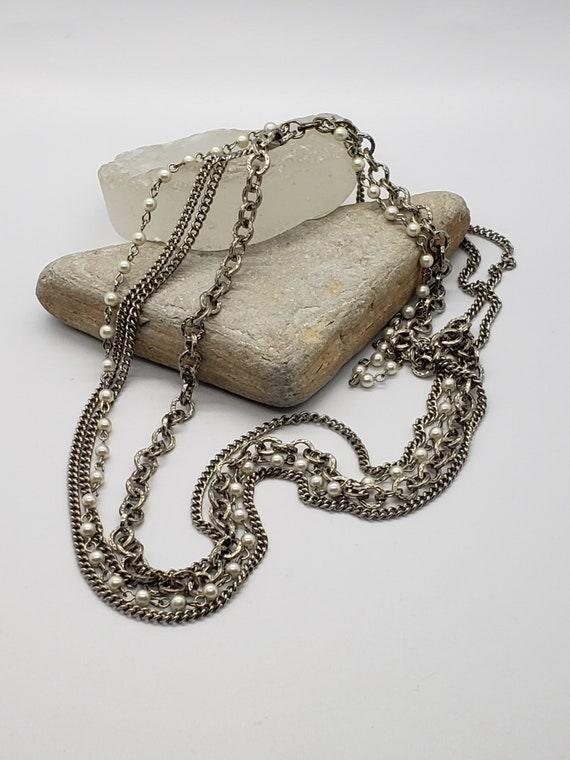 Vintage multi chain necklace - image 4