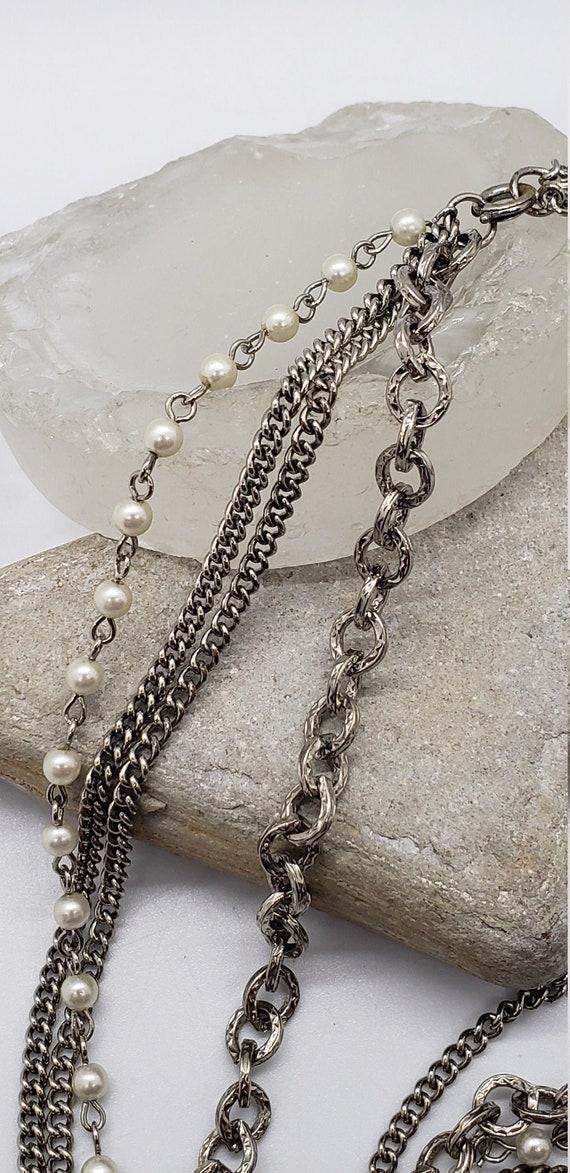 Vintage multi chain necklace