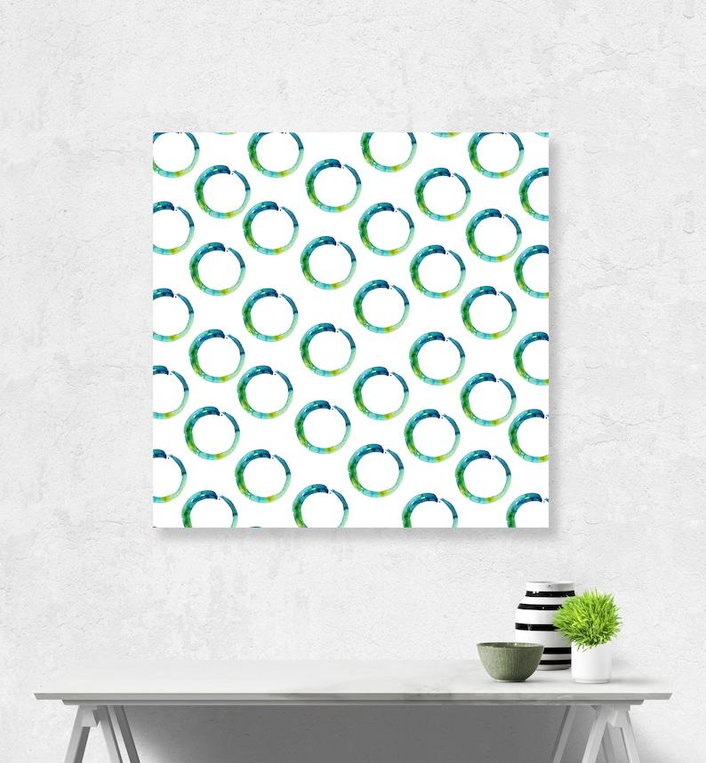 Enso, Zen Circle, Pattern Art, Large sizes, teal, aqua,lime, zen decor,  INSTANT DOWNLOAD, Digital,