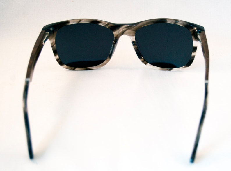 WITCOMBE handcrafted Sunglasses : White Tortoise Acetate & Ebony Temples