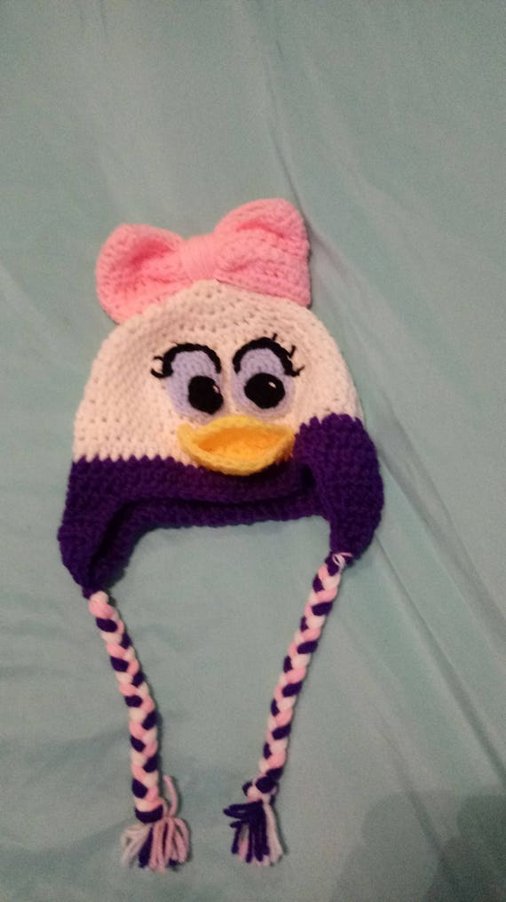cd7f18f7b44 Daisy duck crocheted hat