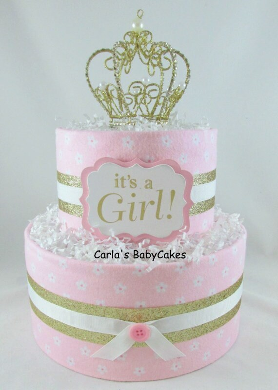 Girl Diaper Cake Princess Diaper Cake Baby Shower Gift Baby