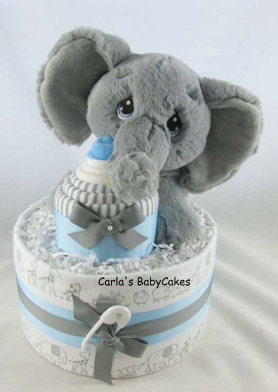Elephant Diaper Cake Boy Diaper Cake Baby Shower Decoration Baby