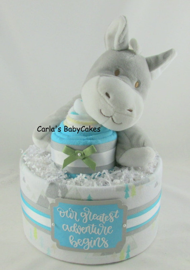 Boy Diaper Cake Baby Shower Decor Baby Diaper Cake Baby Etsy