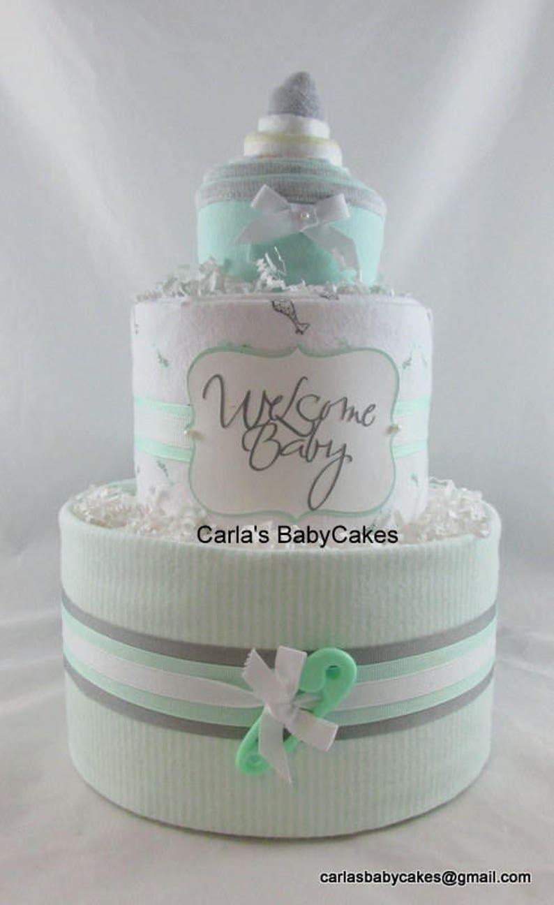Baby Windel Kuchen Baby Dusche Geschenk Baby Shower Etsy