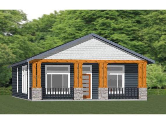 3 Bedroom 2 Bath PDF Floor Plan 1,200 sq ft 30x40 House Model 3