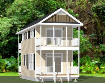 14x28 House -- 2-Bedroom 1.5-Bath -- 749 sq ft -- PDF Floor Plan -- Instant Download -- Model 6A