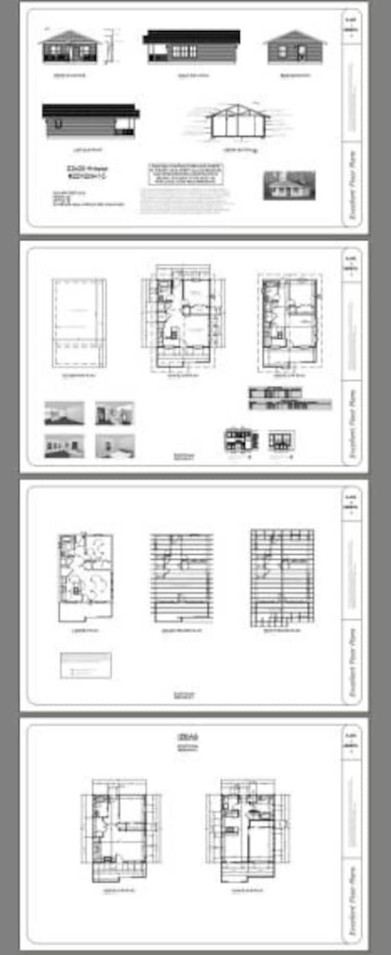 1 Bedroom 1 Bath Model 2 PDF Floor Plan 616 sq ft 22x28 House