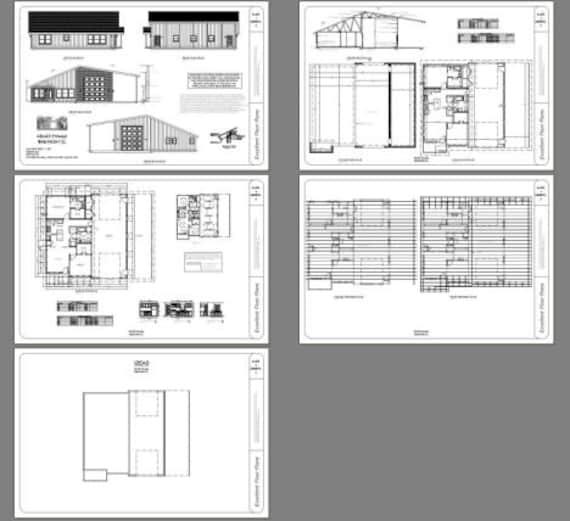 1,157 sqft 46x48 House 1 Bedroom 1 Bath 1 RV PDF Floor Plan Model 1