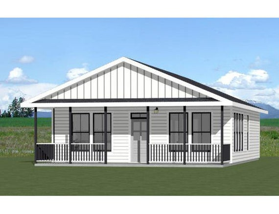 28x36 House 3 Bedroom 2 Bath 1,008 sq ft PDF Floor Plan Model 1D