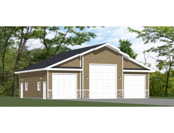 PDF FloorPlan 1,821 sqft Model 1C 46x42 1-Car 1-RV Garage 1 Br 1 Ba