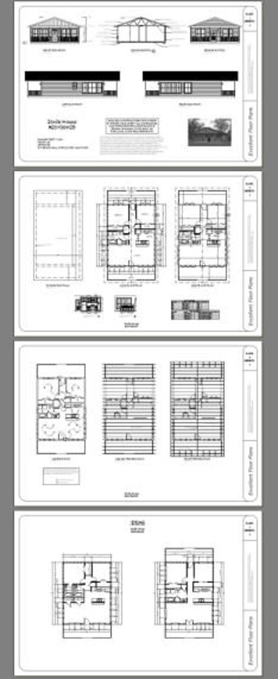 Model 2B PDF Floor Plan 1,008 sq ft 2 Bedroom 1 Bath 28x36 House