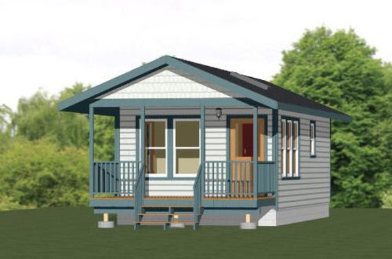 Model 3 391 sq ft 14x28 Tiny House PDF FloorPlan