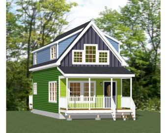 16x40 House -- 1,193 sq ft -- PDF Floor Plan -- Instant Download -- Model 1