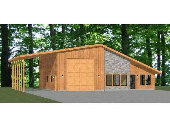 1,157 sqft 3 Bedroom 2 Bath 1 RV 46x48 House PDF Floor Plan Model 3