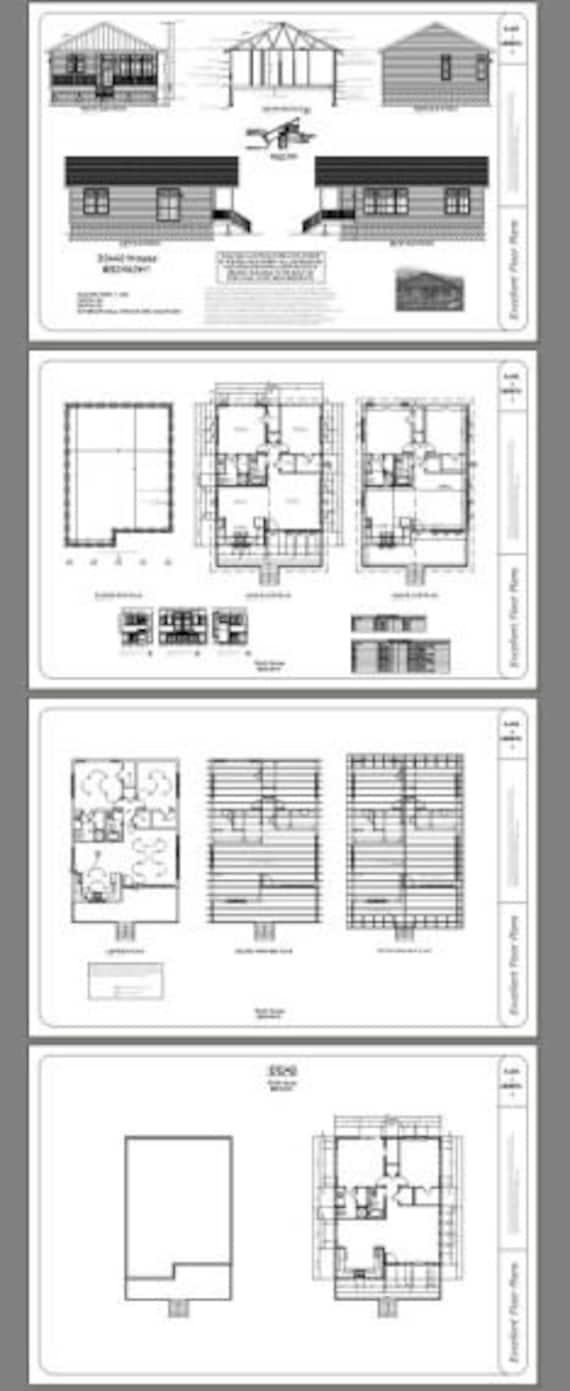 30x40 House 2 Bedroom 2 Bath 1136 Sq Ft Pdf Floor Etsy