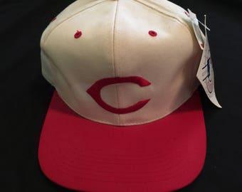 1e153d1644b Nwt Vintage 80s Unisex Mlb Baseball Cincinnati Reds Adjustable Snapback Hat  Cap