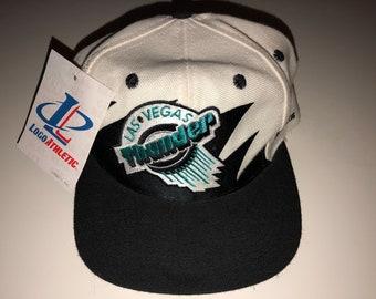 efd793e64 NWT New Vintage Las Vegas Thunder Ihl Hockey Logo Athletic Splash  Sharktooth Paintsplash Snapback Hat Deadstock