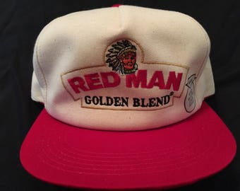 d3ae20a669d New Nos Vintage Redman Golden Blend Chewing Tobacco Advertising Adjustable  Snapback Hat Cap Red Man