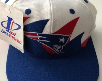 00c594c9f86 New Nwt Vintage Nfl Football New England Patriots Logo Athletic Double  Shark Tooth Splash Snapback Hat Cap Super Bowl Deadstock