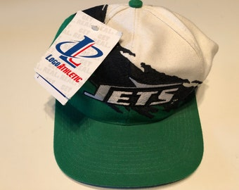 New Nwt Vintage Nfl Football New York Jets Logo Athletic Shark Tooth Splash Snapback  Hat Cap Super Bowl Deadstock fdbee0e56701