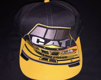 Rare Vintage Mens Ward Burton Cat Caterpillar Winston Cup Champion The Game  Big Logo Type Racing Snapback Hat Nascar ba18c2590ed