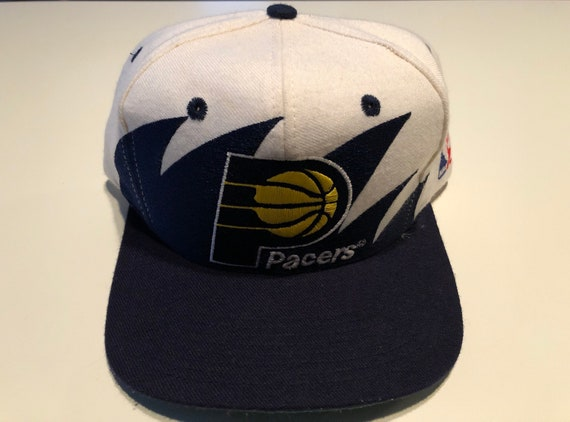 39f044ab646 Logo vintage Athletic Sharktooth Indiana Pacers NBA Basketball