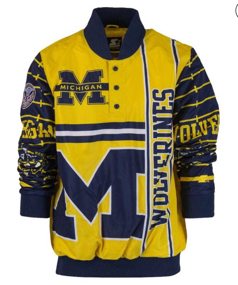 f051a3d8f21b8 Rare Nwt New Vintage Unisex Michigan Wolverines All Over Print