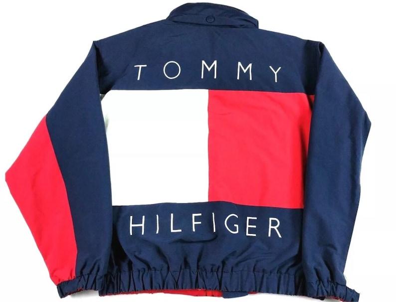8aba9106 Rare Vintage Mens Team Tommy Hilfiger Spellout Big Logo Flag | Etsy