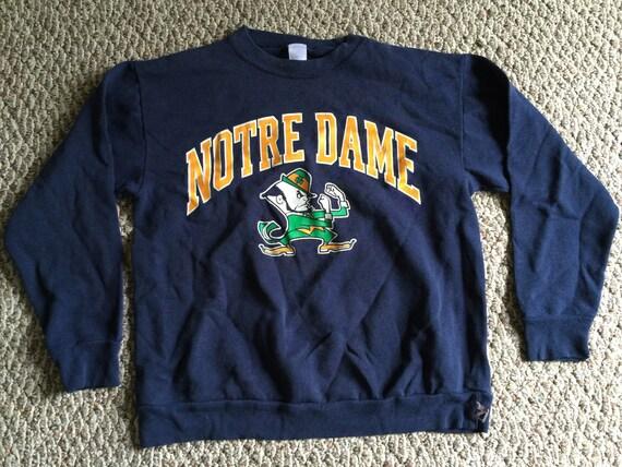 Femmes Vintage Notre Dame Fighting Irish Logo Crewneck Sweatshirt
