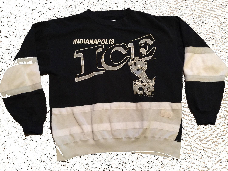 Rare Vintage Unisex Indianapolis Ice Logo 7 Hockey Crewneck Sweatshirt  Size:L