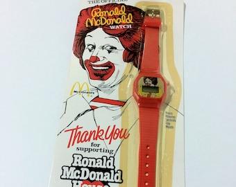 1984 Ronald McDonald Red Vintage Digital Plastic Watch Hong Kong