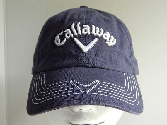 7cd3de53858 Callaway Golf Adult Navy Blue Raised Embroidered Logo Baseball