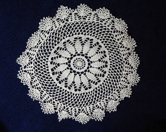 """23"""" White Cotton Lacey Circular Doily Table Cover"""
