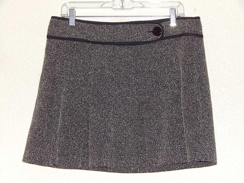 fb193c2e9750 Studio Y 34 Waist Womens Pleated Black White Mini Skirt | Etsy