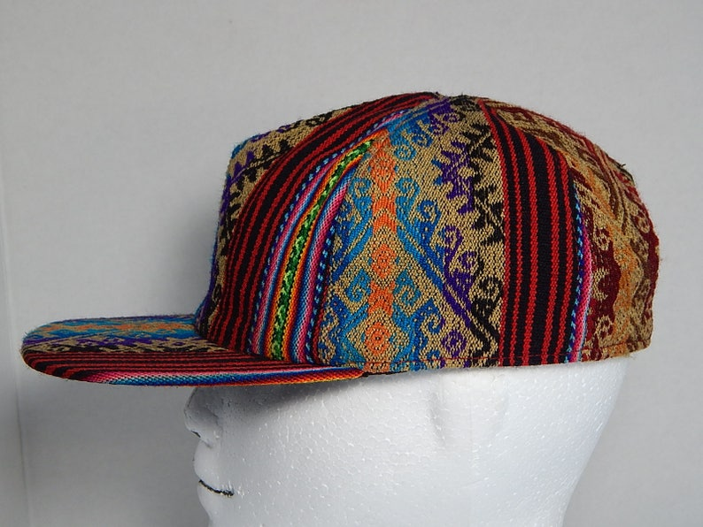 203dee7e Ethnic Woven Adult Adjustable Lined Multi Color Baseball Cap Hat