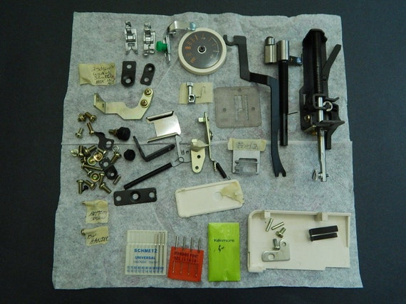 Lot Of Sears Kenmore Sewing Machine Parts 400 40Stitch Model Etsy Gorgeous Kenmore Sewing Machine 385 Parts