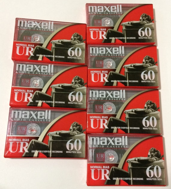 Brand New//Sealed 4x Maxell UR 60 Minute Audio Cassette Normal Bias IEC Type I