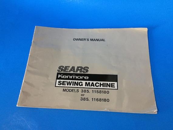 Sears Kenmore Model 40 Sewing Machine Vintage Owner's Etsy Inspiration Kenmore Sewing Machine Model 385 Owners Manual