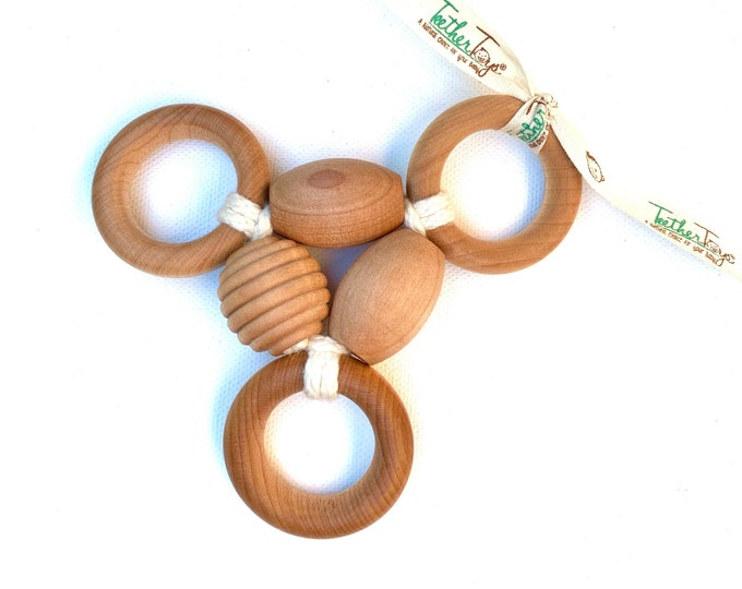 The Original Organic TeetherToys® THREE-RING CIRCUS™ - TeetherToys - Teething Toy - Wooden Toys - Baby Shower - Organic Toys - Montessori