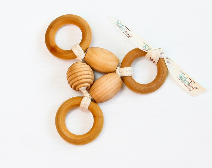 THREE-RING CIRCUS™ - TeetherToys - Teething Toy - Wooden Toy - Baby Shower - Organic Toys - Montessori - Baby Teether