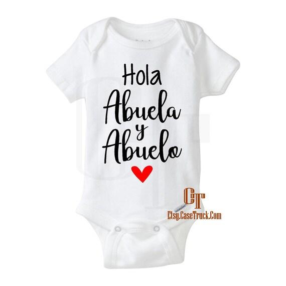 Pregnancy Announcement Hola Abuela Abuelo Abuelita Spanish Etsy