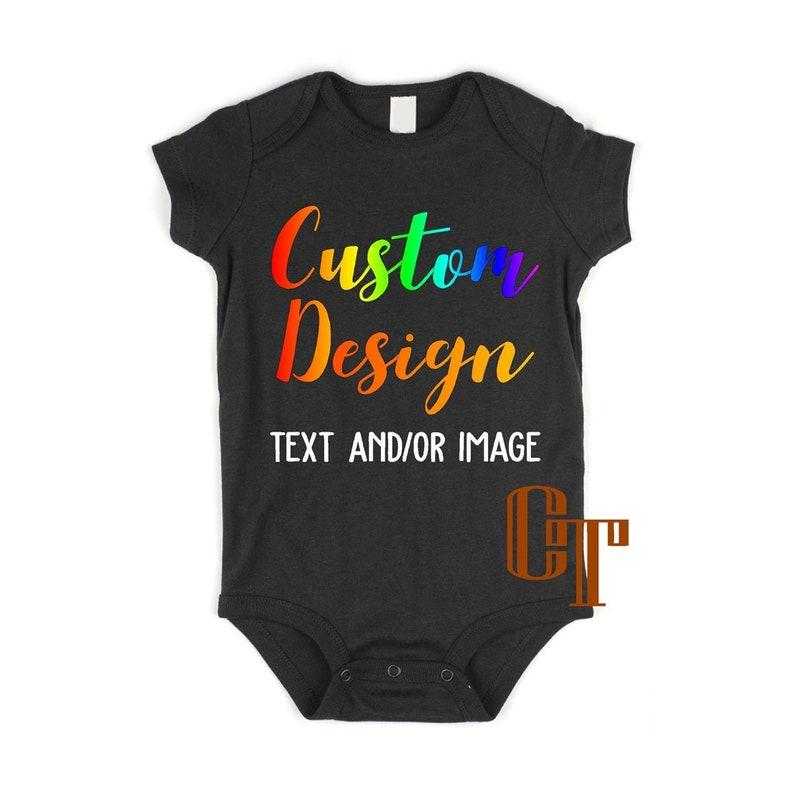 9bba2f710 Custom Text Image Bodysuit Custom Bodysuit Your Text | Etsy