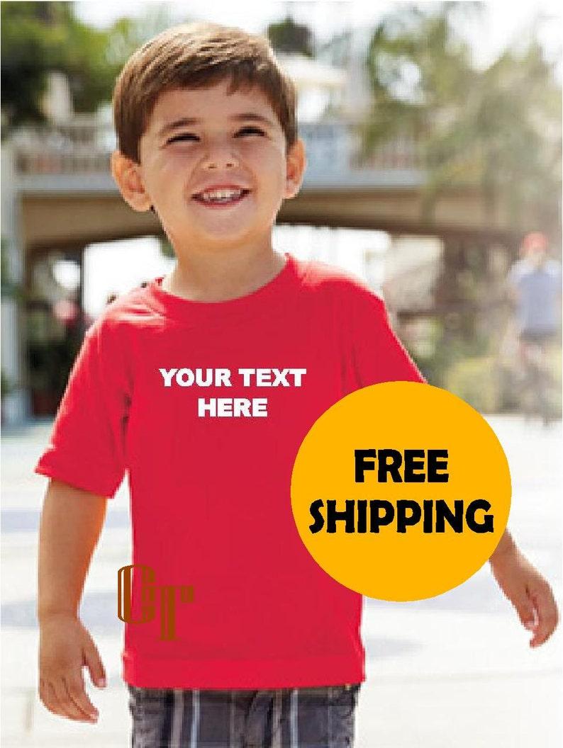 99f989492e2 CUSTOM T-Shirt Kids Child Children 2 3 4 5 6 7 White Text