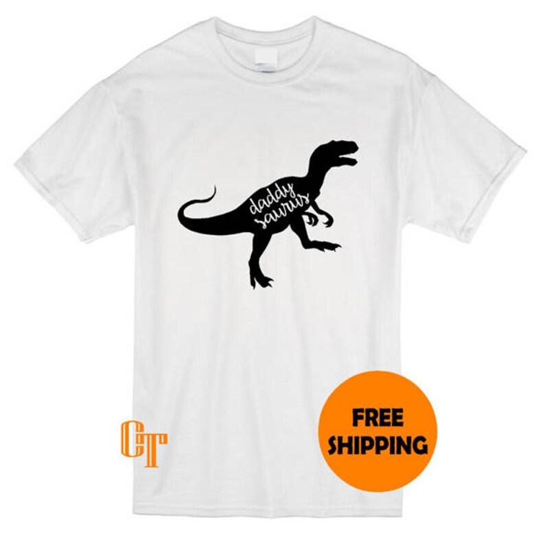 DADDYSAURUS Funny Daddy Gift Present T-shirt